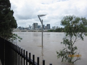 View of City during 2011 Flood