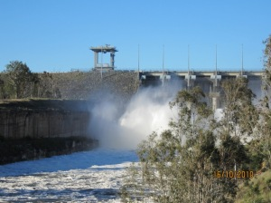 Wivenhoe Dam Gates Open Oct 2010