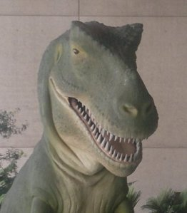 T-Rex in Energex Playasaurus Place at Queensland Museum