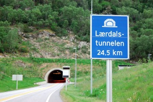 Laerdals Tunnel Entrance