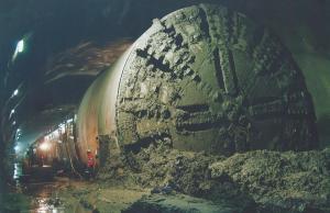 TBM Rocksy moving through cavern. Image: Thiess John Holland