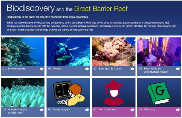 Reef Biodiscovery microsite at Queensland Museum